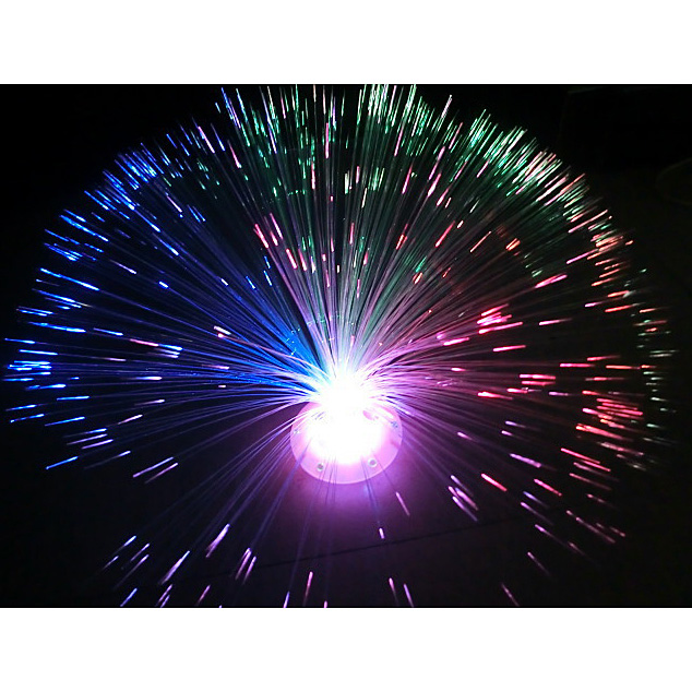 New 7 Color Changing LED Fiber Optic Night Light Lamp Colorful Stand Home Decor