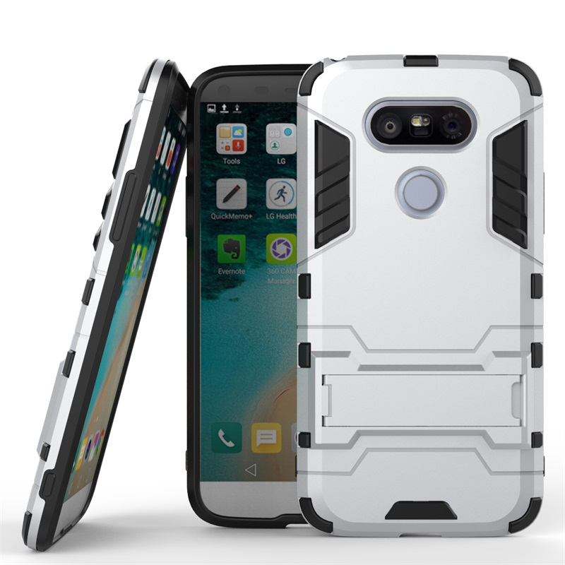 low cost 3d697 cdd26 US $4.29 |For LG G5 Case Heavy Duty Kickstand For LG G5 SE H868 H860 / G5SE  H845 G5Lite Hybrid Combo Silicon Armor Phone Cover Coque-in Fitted Cases ...