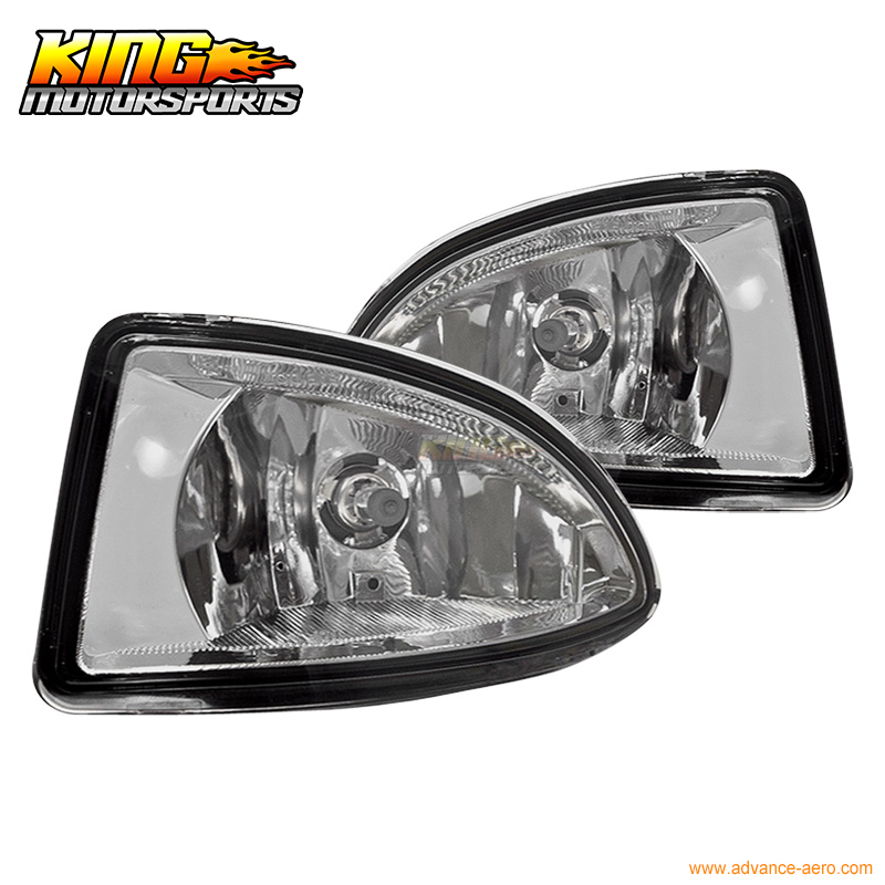Fit For 2004 2005 Honda Civic 2 4Dr OE Fog Lights Lamps Clear Wiring Kit Included USA Domestic Free Shipping