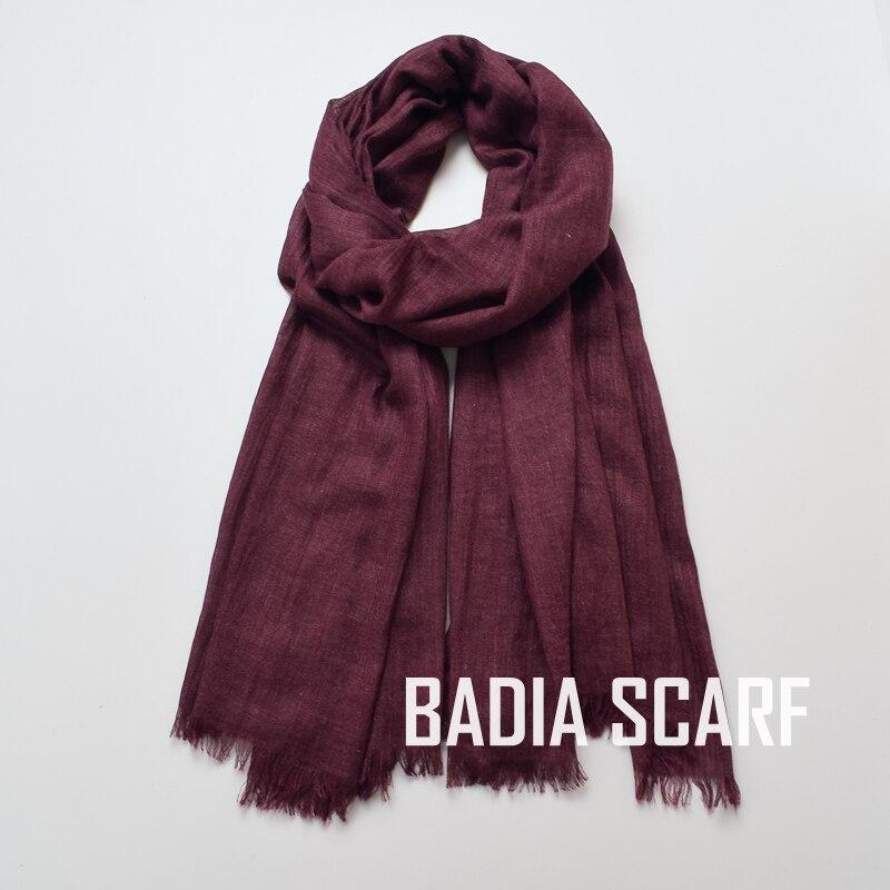 Image 4 - One piece high quality women muslim plain frayed scarf hijab  shawls wraps headwear crinkle solid oversize pashmina hijabsWomens  Scarves