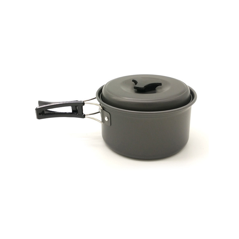 1.2l Ultralight Outdoor Camping Cookware Single Cooking Pot Utensils For Hiking Picnic Backpacking Tableware Pot Survival Tool An Enriches And Nutrient For The Liver And Kidney