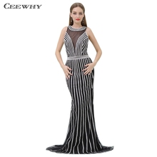 CEEWHY Open Back High-end Evening Dresses Mermaid Evening