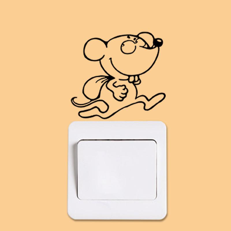 DIY Funny Cute Black Cat Dog Rat Mouse Animls Switch Decal Wall Stickers DIY Funny Cute Black Cat Dog Rat Mouse Animls Switch Decal Wall Stickers HTB14hkGJXXXXXaDXVXXq6xXFXXXB