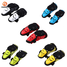 POSSBAY Red Yellow Green Blue White Knee Pads Protective Gear Off Road Motocross Outdoor Sports Cycling Safety Protector Kneepad