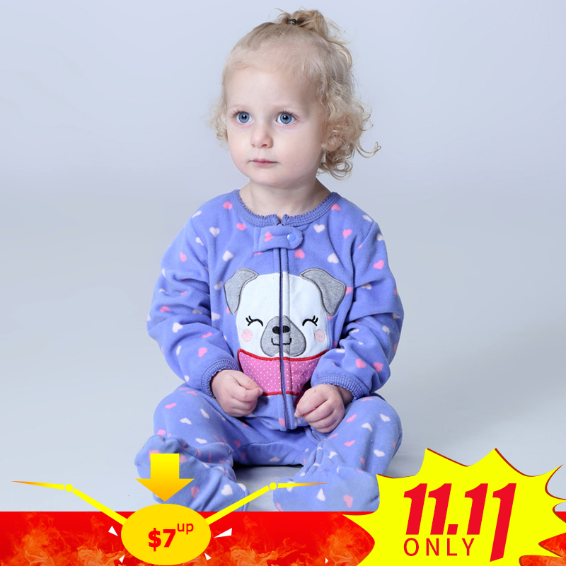 все цены на Orangemom official store baby girl clothes ,fleece one pieces jumpsuits soft Pajamas , 0-24M baby clothing baby costumes romper онлайн