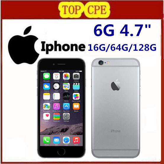 Original Factory Unlocked iPhone 6 Smartphone Dual Core 4.7″ 1GB RAM 128GB ROM 8MP 1080p Multi-Touch WCDMA 4G LTE phone