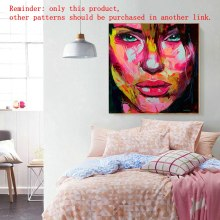 Abstract Cooling Face Designer Francoise Nielly  Wall Artworks Oil Painting Canvas oil painting Customized