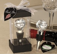 10pcs/lot Crystal Diamond Ball red Wine Bottle Stopper Twist Wedding Favors party gift ww002
