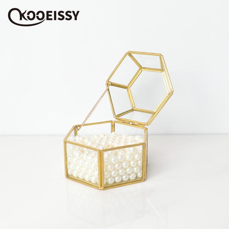 Box Personalized Storage-Box Wedding-Ring-Holder Glass Rustic Proposal Engagement