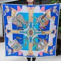 110cm Fashion bag Elegant Pure silk wrap Women's  big Square Silk Scarf  crepe satin plain square silk scarves