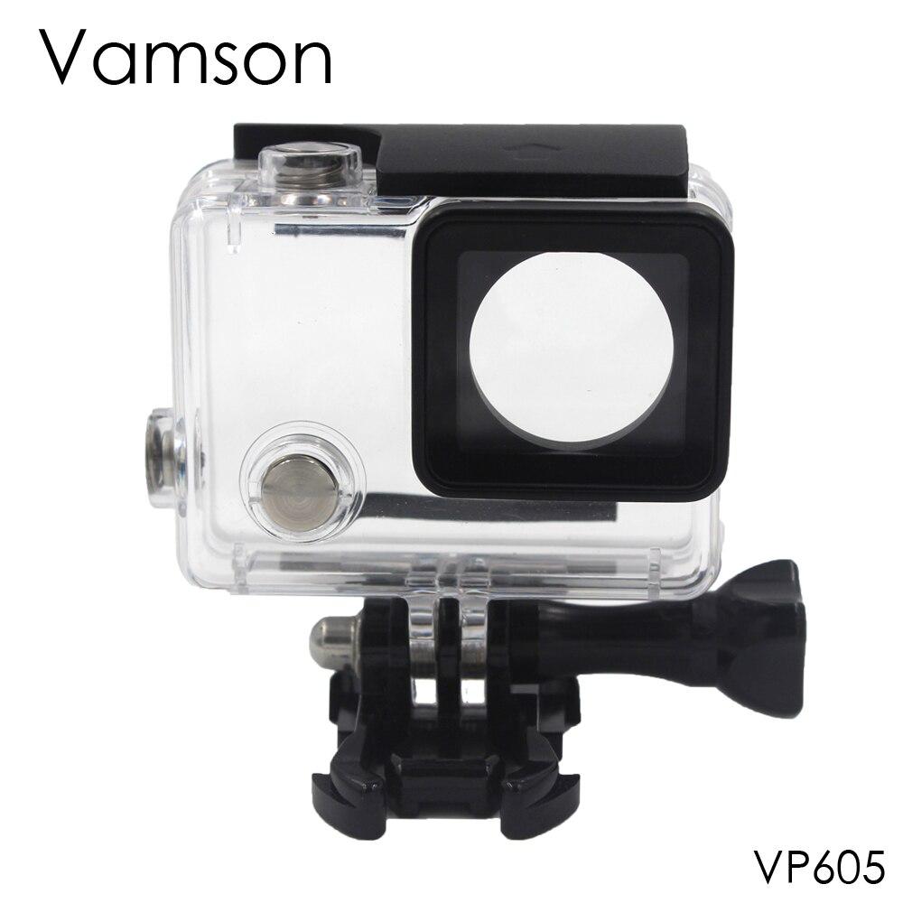 Vamson für Go Pro Zubehör Unterwassergehäuse 60 mt Tauchen Shell Cover Gehäuse Skeleton Rahmen für Gopro Hero 4 3 + VP605