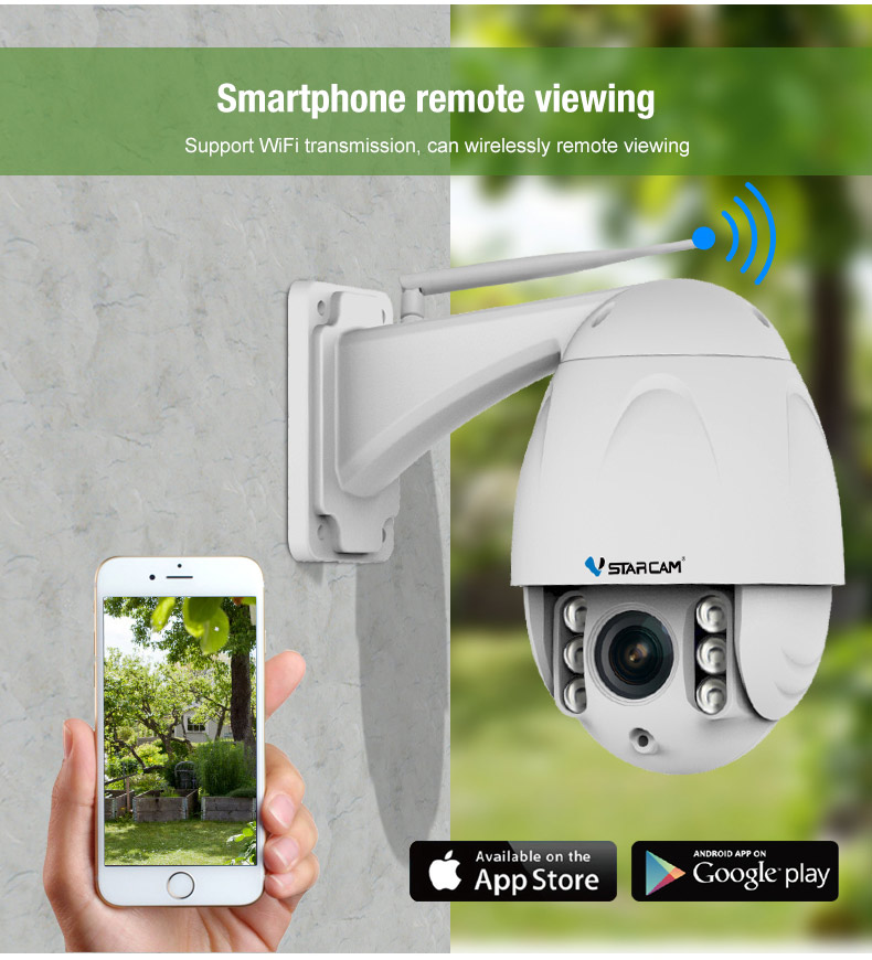 H.264 Wi-Fi technologically advanced security system ip security cameras with H.264 CMOS 2.0MP, 30m IR distance.