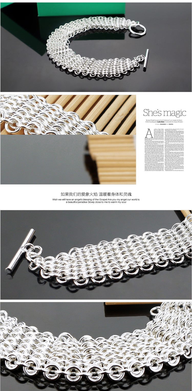 04912937c03c Moda mujer pulseras anchas plata sólida 25mm 20 cm borla pulsera ...