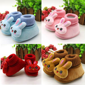 Toddler Shoes Baby Boots Fleece Infant Rabbit Winter Cute Cotton-Padded 0-18-Month Worm
