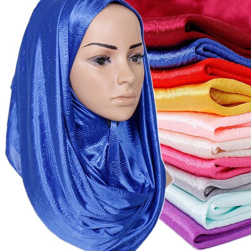 New Shawl Plain Cotton Floral Muslim Instant Scarf Crinkle Hijab Femme Musulman Ready To Wear Turban Foulard Islamic Headscarf