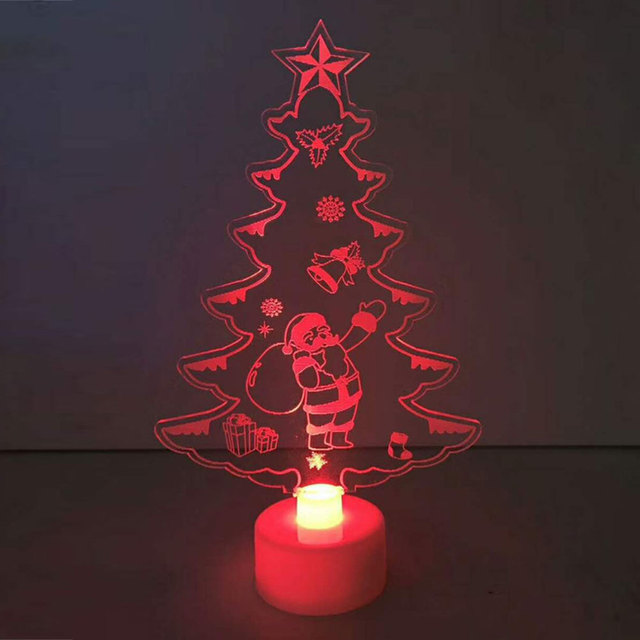 white 15883cm color changing xmas tree led christmas tree night light lamp - Color Changing Christmas Tree Lights