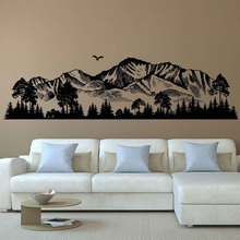 цена на Mountain Silhouette Wall Decals Forest Wall Decals Woodland Wall Art Nursery Decor Woodland Baby Room For Bedrooms 3123
