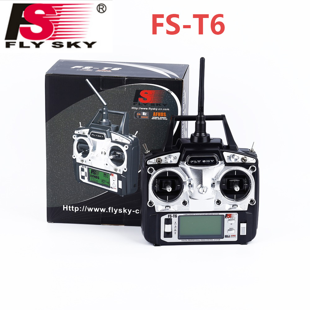 Flysky FS-T6 Radio Control 2.4G 6 Channel Transmitter+Receiver for RC Helicopter graupner mz 12 radio controller rc transmitter 2 4ghz 6 ch remote control system with gr 18 receiver for rc airplane helicopter