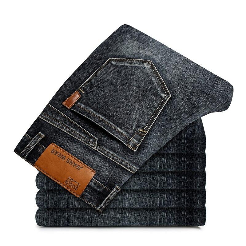 2019 New Mens Fashion Black Blue Jeans Men Casual Slim Stretch Jeans Classic Denim Pants Trousers