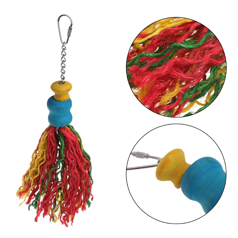 Красочные Пек, попугай игрушки не токсичен Висячие клетке попугай игрушка клетка жевательная игрушка