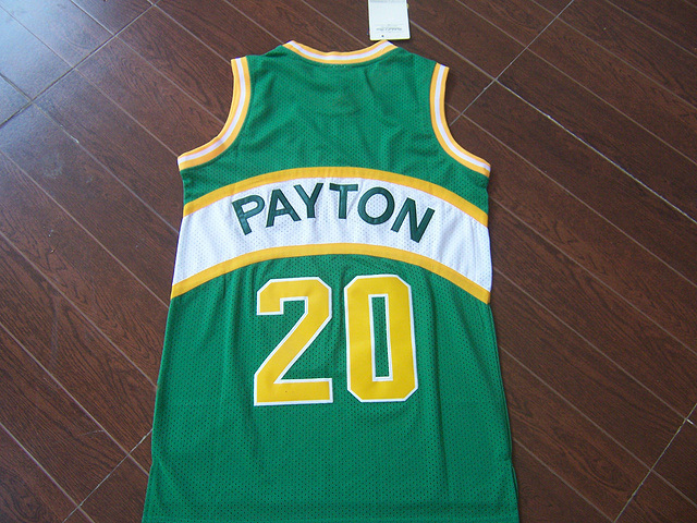 7ca867bd Seattle #20 Gary Payton retro men basketball jersey USA Authentic REV 30  Embroidery Logos Men's Basketball throwback Jerseys