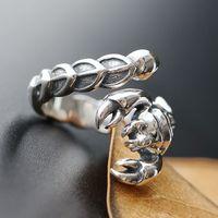 Ecoworld Ge Jewelry Wholesale Handmade Silver Rings 925 Sterling Silver Ring Retro Silver Ring Opening Scorpion
