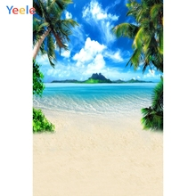 Yeele Summer Bird Seaside Coconut Palm Tree Cloud Photography Backgrounds Personalized Photographic Backdrops For Photo Studio