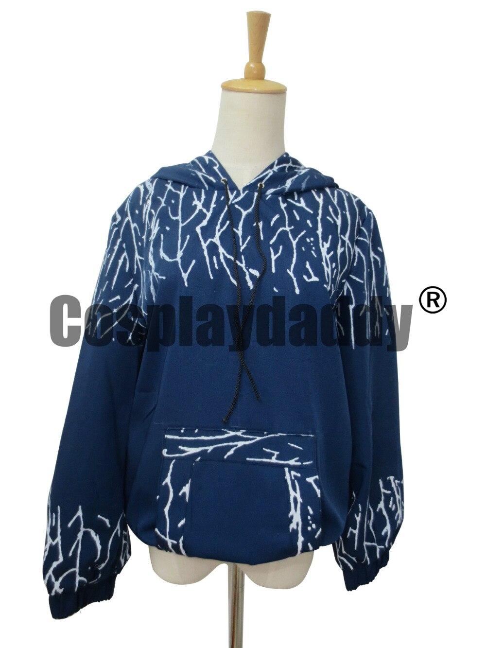 Rise of the Guardians Jack Frost Hoodie Cosplay Costume Hooded Sweatshirt