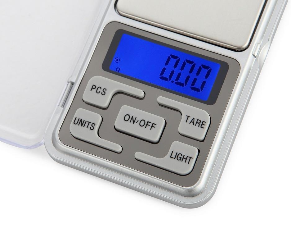 Ba b/áscula digital de bolsillo plata