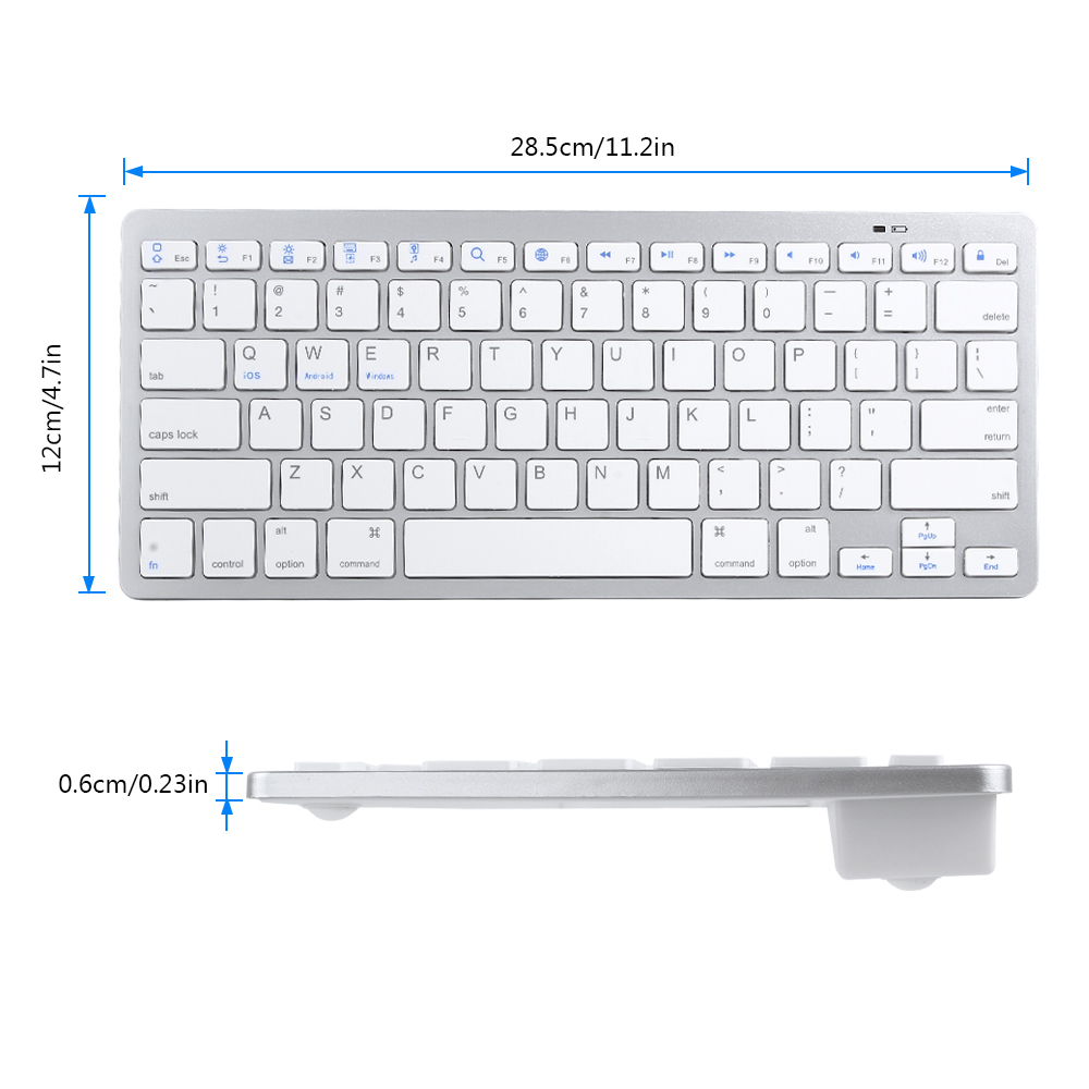 US $12 91 33% OFF|Russian French Arabic Spanish Wireless Keyboard Bluetooth  3 0 Keyboard for iPad Tablet Laptop Support iOS Windows Android System-in