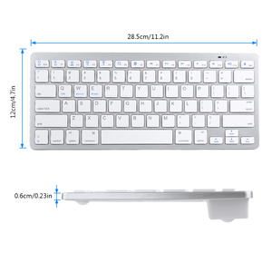 Image 5 - Russian French Arabic Spanish Wireless Keyboard Bluetooth 3.0 Keyboard for iPad Tablet Laptop Support iOS Windows Android System