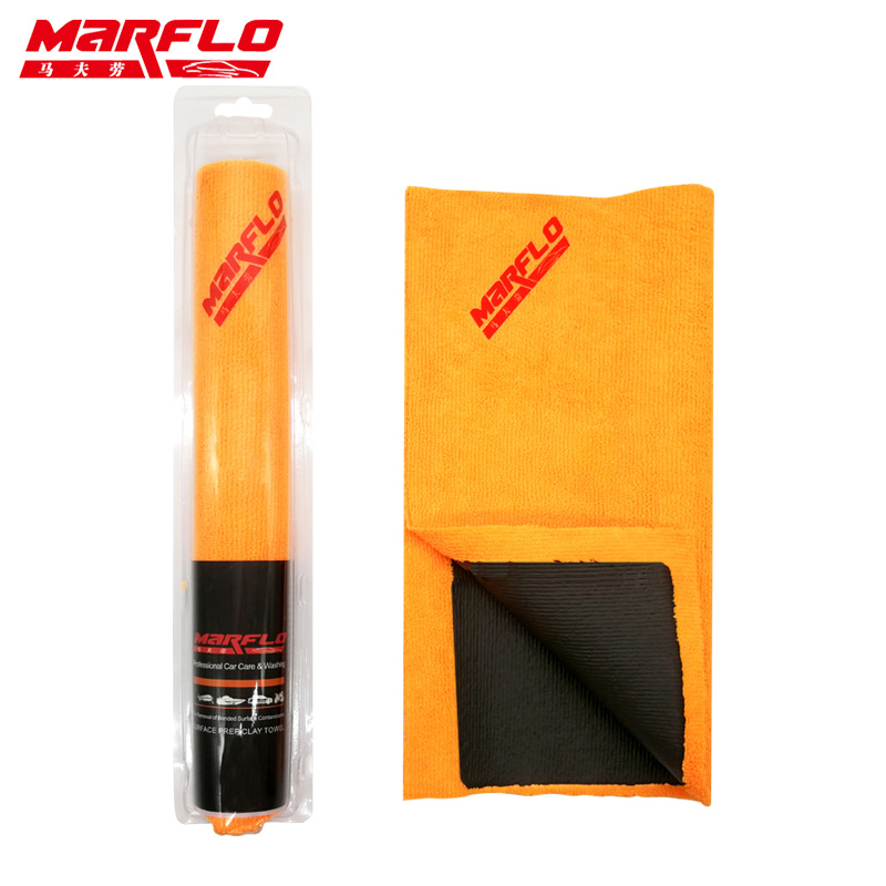 marflo car wash magic clay towel bar cloth microfiber orange edgeless auto care detail bar clean. Black Bedroom Furniture Sets. Home Design Ideas