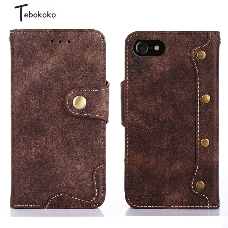 For iphone 6 S 6s 7 8 Plus X Case Vintage Folio Luxury Leather Cover Card Slot Wallet Flip Case for iphone 7 8 Plus Coque