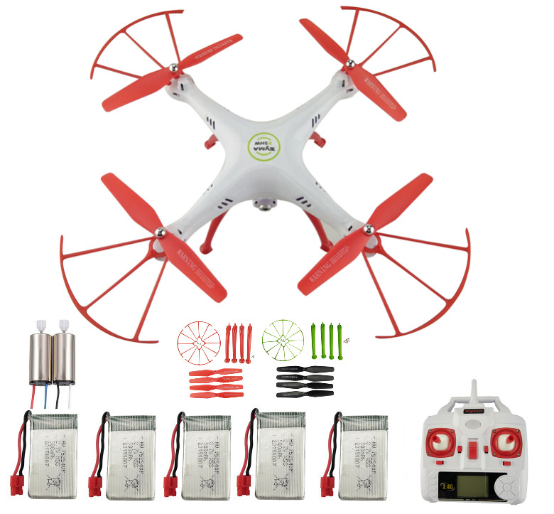SYMA New X5HW FPV RC Quadcopter 2.4G remote control airplane remote control aircraft WIFI camera-Red x uav mini talon epo 1300mm wingspan v tail fpv rc model radio remote control airplane aircraft kit