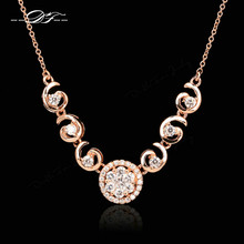 Nobleness Cubic Zirconia Micro Pave Necklaces Ethnic Fashion Brand Steampunk Vintage Jewelry For Women Chain Accessiories DFN311