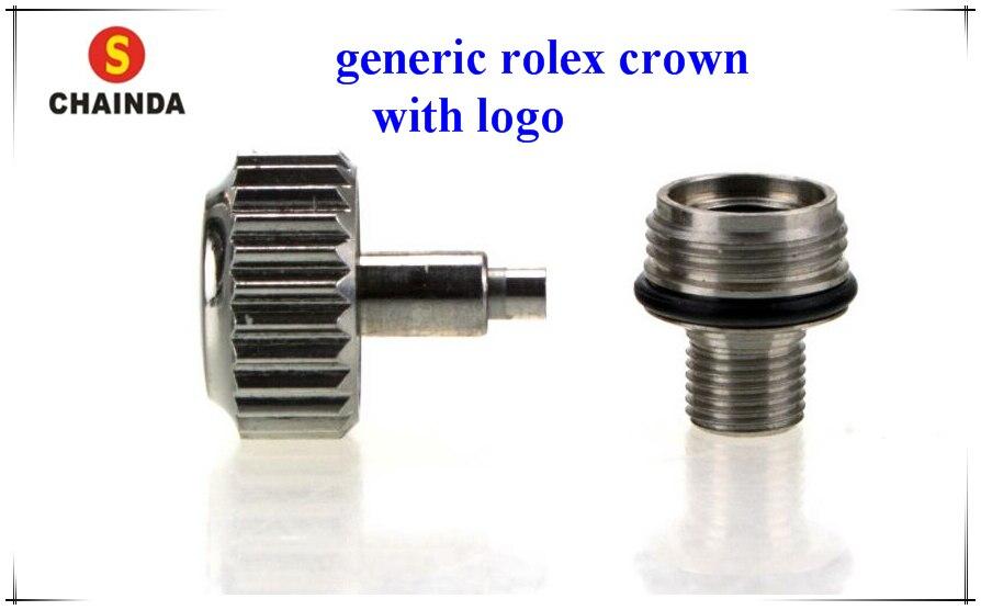 무료 배송 1 pc 대형 튜브 스크류 온 크라운 rlx 호환 diam. Rlx 시계 용 5.3-7.0mm