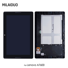 LCD Display For Lenovo Tab A7-10 A7-10F AF-20F A7600 A7600-F A7600-H A7600F A7600H Touch Screen Digitizer Black With/No Frame 7 touch screen digitizer sensor glass lcd display monitor assembly for lenovo tab 2 tab2 a7 30hc a7 30 a7 30dc