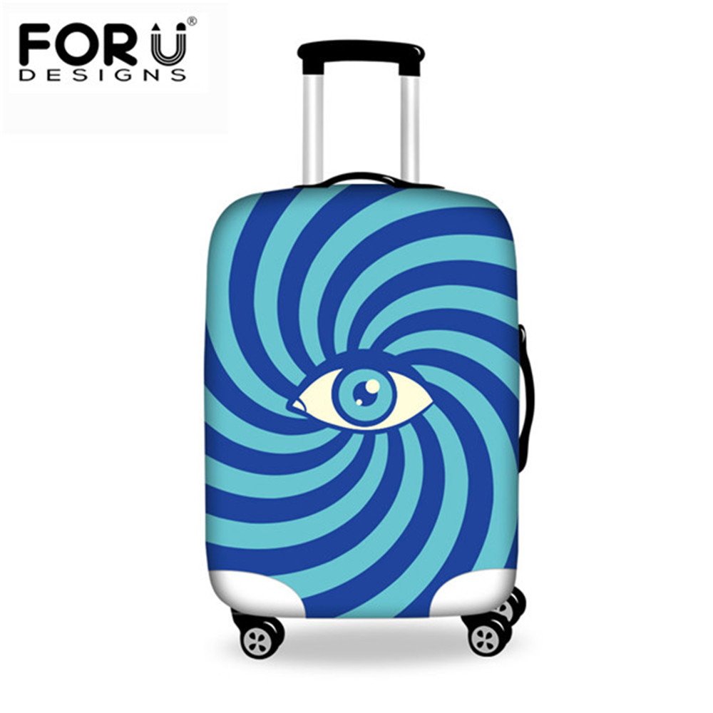 FORUDESIGNS Women Men Elastic Travel Accessories 3D Eyes Pattern Luggage Protective Cover For 18-30inch Suitcase Trunk Case 2019