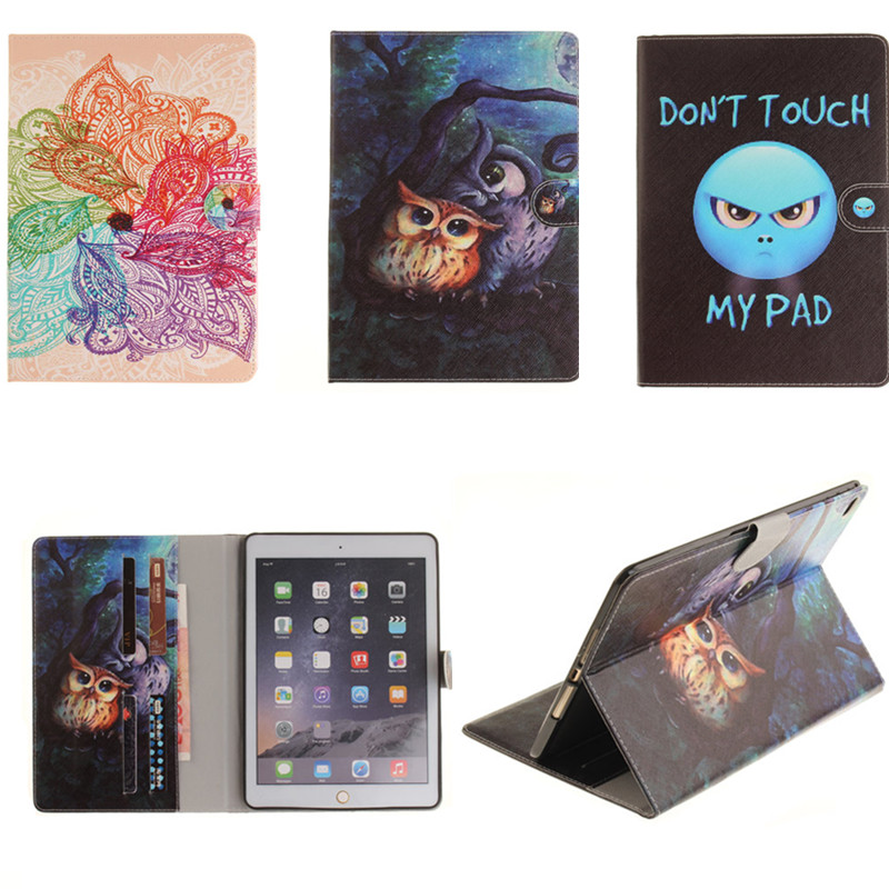 TX Cute Popular Pattern PU Leather Case With Card Slots For Apple iPad Air 2 Case Folio Stand Protector Skin For iPad Air2 Cover flip left and right stand pu leather case cover for blu vivo air