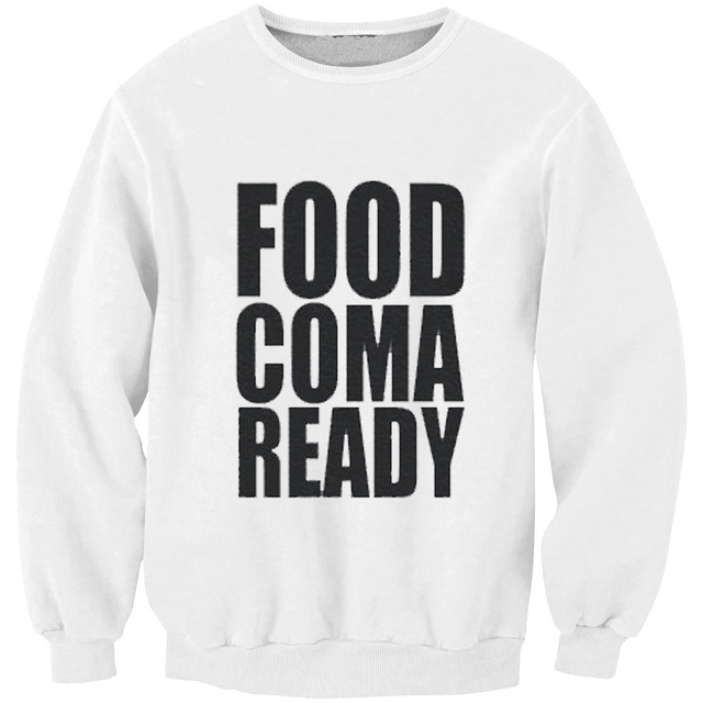 Funny Mens Hoodies Food Coma Ready Printed Thanksgiving Party