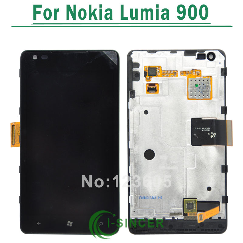 5/PCS Replacement LCD Display Screen Touch Digitizer With Frame Assembly For Nokia Lumia 900 Free DHL 5 pcs free dhl ems shipping replacement lcd display with touch screen digitizer frame for nokia lumia 730 735 lcd assembly tools