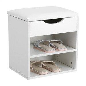 Image 1 - ホーム靴ラック木製靴収納オーガナイザーホルダーキャビネットパッド入りシートリビングルーム家具の靴キャビネット