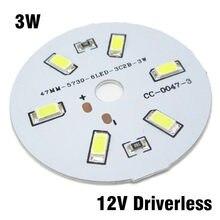Panneau Source de lumière SMD5730 LED 12V 3W, 30 pièces, entrée dc 12V directement sans pilote, plaque de lampe blanche/blanche chaude