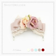 Manis Lolita renda naik headwear indah busur hairpin Antik bunga Bros SweetDreamer(China)
