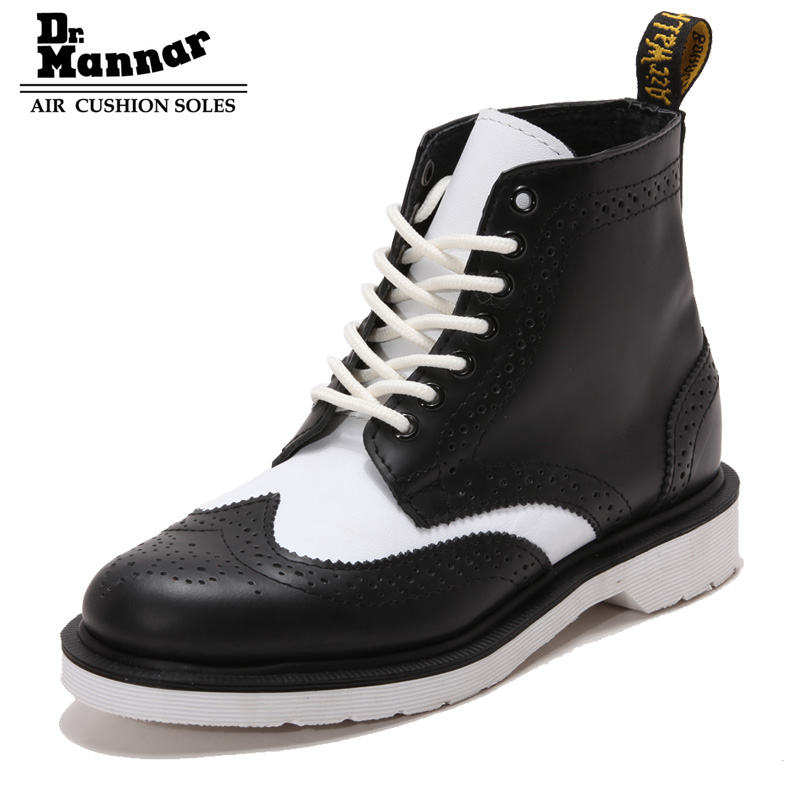 ФОТО 2016 New England Style Genuine Leather Martin Boots head layer cowhide wine red short boots Ankle Boots tide Motorcycle Boots