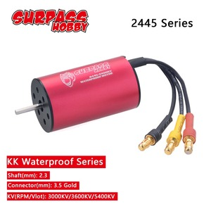 Waterproof 2445 2.3mm Brushless Motor 3000KV 3600KV 5400KV for Traxxas HSP 1/16 RC Drift Racing Climbing car(China)