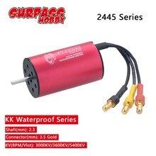 Wodoodporny 2445 2.3mm bezszczotkowy silnik 3000KV 3600KV 5400KV dla Traxxas HSP 1/16 RC Drift Racing samochodów wspinaczkowy