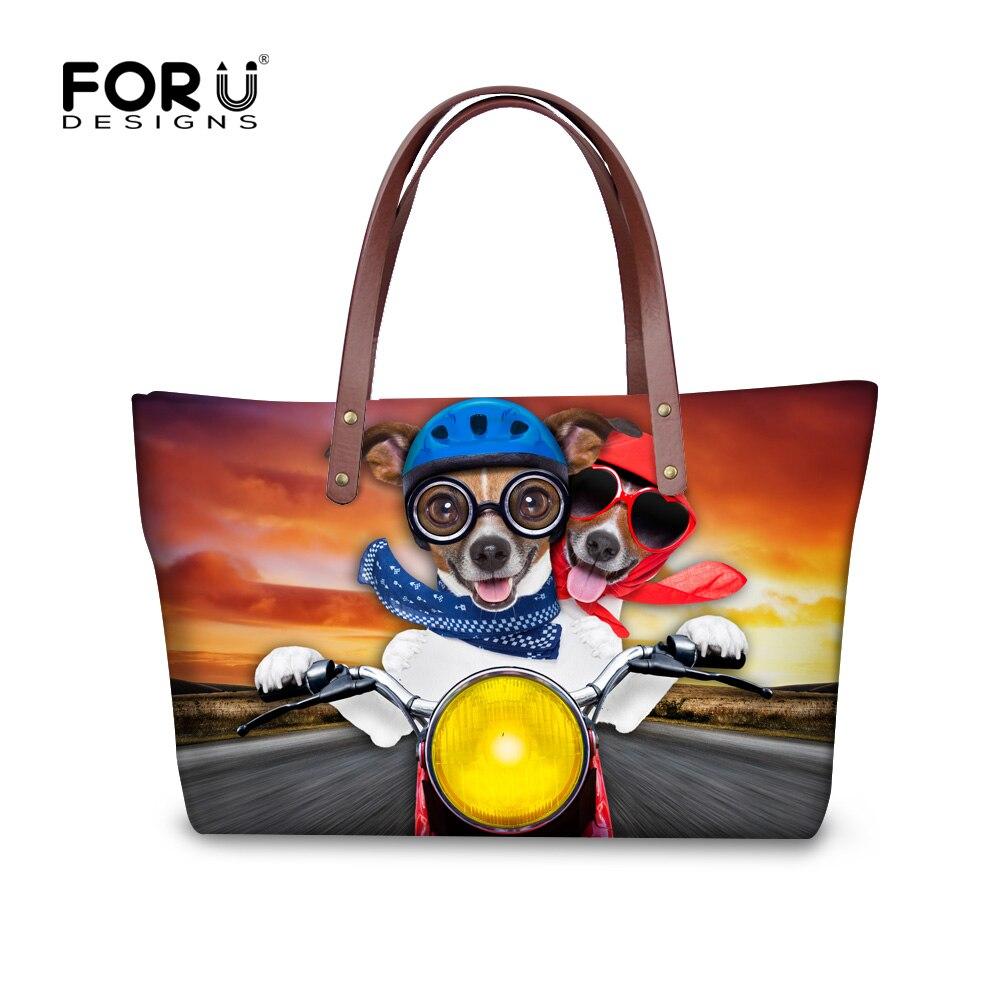 ФОТО Hot Women Handbags Cute French Bulldog Shoulder Bag Casual Zoo Animals Shopping Bags Large Capacity Lady Handbags Bolsa Feminina