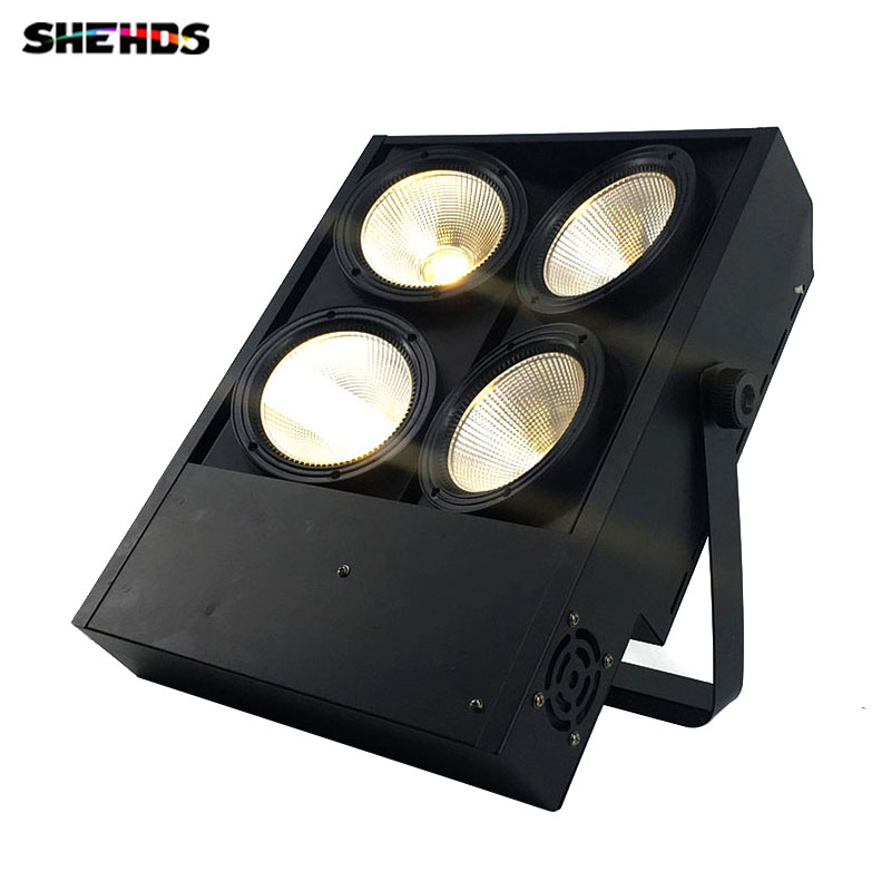 DMX Dimmering 4x100W COB Blinder Light COB Led Lamp 4 Eyes Cool White/Warm White DMX Wash Light 400W 3 Kinds You Can Choose blinder led cob 4x100w led blinder light 400w dmx512 2 channels cold warm white blinder stage effect lighting dj party led lamp