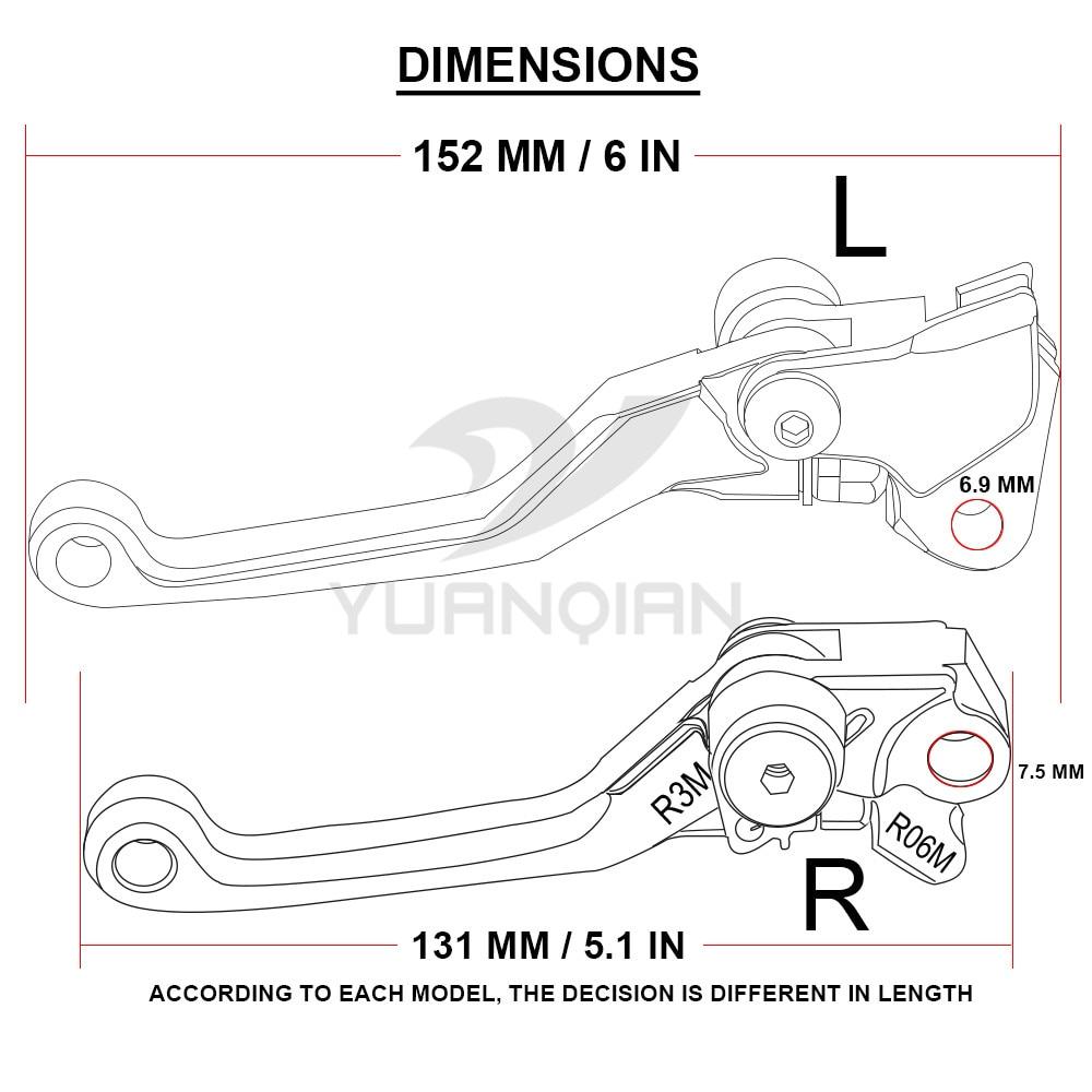 hight resolution of moto dirt bike brake clutch levers for ktm exc 125 200 six days 125 wiring diagram